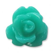 10mm Teal Green Small Resin Rose Buds
